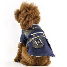 Dżinsowy płaszcz dla psa - ocieplany, M