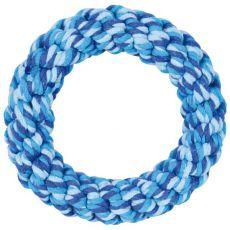 Pierścień ze sznurka, niebieski - 14 cm