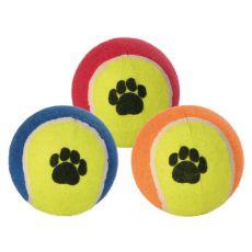 Tenisowa piłka dla psa - kolorowa, 10 cm