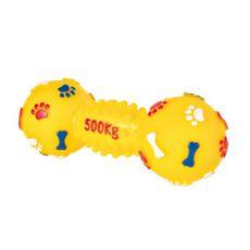 Zabawka dla psów - winylowa hantla, 19 cm