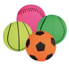 Gumowa piłka dla psów - sportowa, neonowa 6 cm