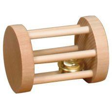 Zabawka dla gryzoni - w kształcie walca, z dzwoneczkiem, 3,5 x 5 cm