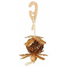 Piłka wiklinowa z sizalowym sznurkiem, dla ptaków 5,5 cm