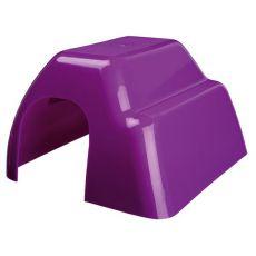 Plastikowy domek dla gryzoni - kolorowy, 14 x 9 x 16 cm
