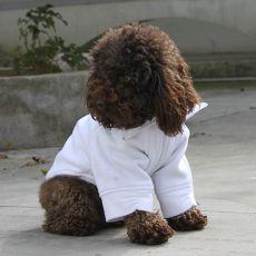 Bluza dla psa na zamek - biała, M