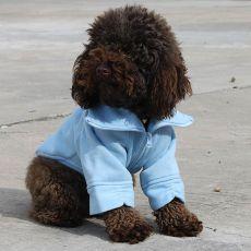 Bluza dla psa na zamek - niebieska, M