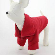 Bluza dla psa na zamek - czerwona, L