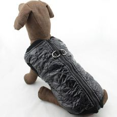 Kamizelka dla dużego psa - lśniąca, czarna, L-XS
