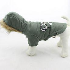Wiatrówka dla psa z kapuzą – oliwkowa, XXL