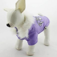 Wiatrówka dla psa z kapuzą - fioletowa, XXL