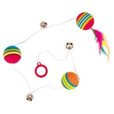 Zabawka dla kota - piłka i dzwoneczek na sznurku