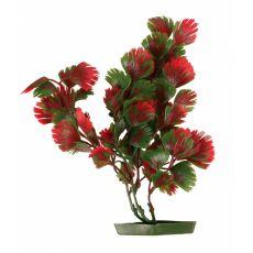 Plastikowa roślina do akwarium - czerwono-zielone liście, 28 cm