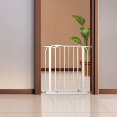 Metalowa barierka dla psa, biała - 75-85x76 cm