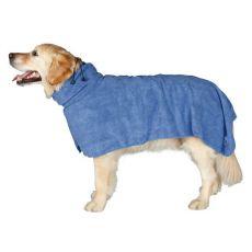 Szlafrok dla psa - niebieski, 60cm
