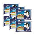 Saszetka FELIX dla kotów – mięso z warzywami w galarecie, 6 x 400 g
