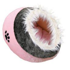 Różowe legowisko dla psów i kotów - 35x26x41cm