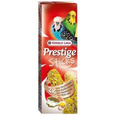 Kolby dla papug falistych PRESTIGE STICKS 2 szt. - jaja i muszle ostryg, 60g