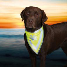 Odblaskowa chusteczka dla psa - rozmiar S-M