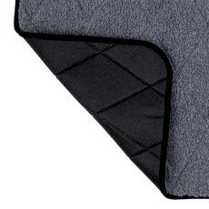 Szara mata grzewcza dla psów - 80x60cm