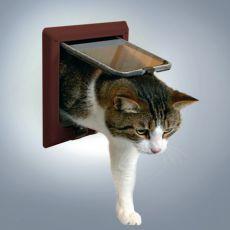 Drzwiczki dla kotów - w brązowym kolorze, 4 pozycje