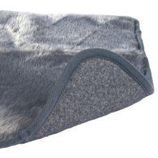Szara mata grzewcza dla psów - 75x70cm