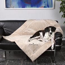 Kocyk dla psa King of Dogs, dwustronny - 100x70cm