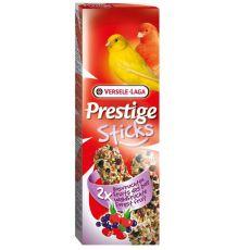 Kolby dla kanarków Prestige Sticks 2 szt. - owoce leśne, 60g