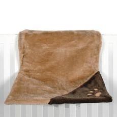Pluszowe legowisko dla kotów do zawieszenia na grzejniku, brązowe - 45x24x31