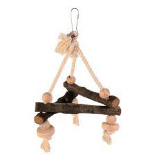 Zabawka dla ptaków, huśtawka na sznurku - 16x16x16 cm