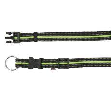Nylonowa obroża dla psa - czarno-zielona, S-M