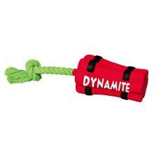 Lateksowa zabawka dla psa - dynamit ze sznurkiem, 22cm