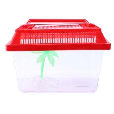 Plastikowe akwarium z palmą - 18x11x11cm