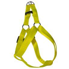 Uprząż dla psa w neonowo żółtym kolorze, 1,6 x 30-45cm