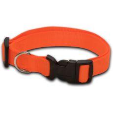 Obroża dla psa neonowa pomarańczowa - 1 x 20-32 cm