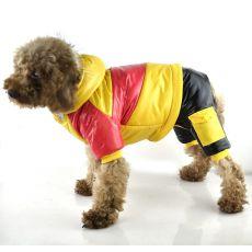 Kurtka dla psa- różowo-żółta, XS