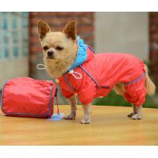 Płaszcz przeciwdeszczowy w torebce - różowy, XS