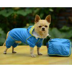 Płaszcz przeciwdeszczowy w torebce - niebieski, XS