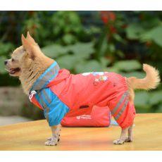 Płaszcz przeciwdeszczowy dla psa z wzorem dziewczynki – różowy, XS