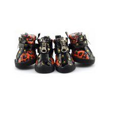 Buty dla psa - lakierki, wzór tygrysek - pomarańczowe, M