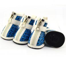 Buty dla psów - z plecionym wzorem w kolorze jasnoniebieskim, XL