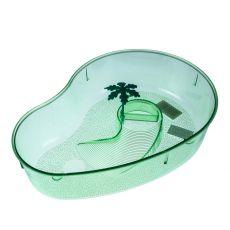 Terrarium dla żółwi z palmą - jasnozielone