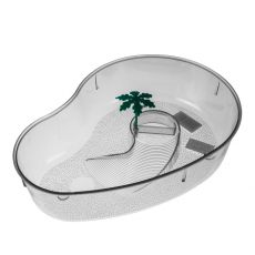 Terrarium dla żółwi z palmą - przeźroczyste