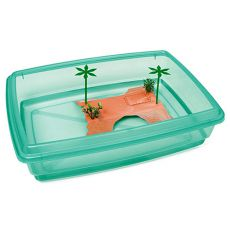 Basen dla żółwi  - zielony - 43,5 x 34 x 11 cm