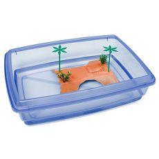 Basen dla żółwi - niebieski - 43,5 x 34 x 11 cm