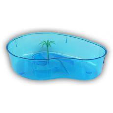 Terrarium z palmą dla żółwia – niebieskie