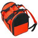 Torba transportowa dla psów i kotów, pomarańczowo - czarna, 36 cm