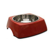 Miska dla psa DOG FANTASY, kwadrat - 0,70l, czerwona