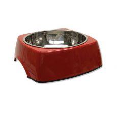 Miska dla psa DOG FANTASY, kwadrat - 1,40l, czerwona