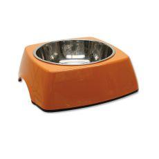 Miska dla psa DOG FANTASY, kwadrat - 0,70l, pomarańczowa
