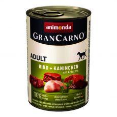 Konserwa GranCarno Fleisch Adult królik + zioła - 400 g